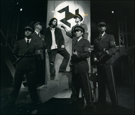 Roy Chicas, Clay Jackson, Drew Sarich, Michael Seelbach, Alec Timerman and Constantine Maroulis in a 1998 Nyack production