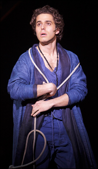 Josh Young as Judas at the Stratford Festival.