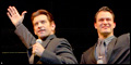 Andy Karl and Quinn VanAntwerp in Broadway's Jersey Boys
