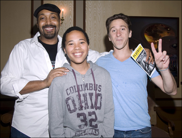 Jesse L. Martin, family friend Bradley and Luther Creek