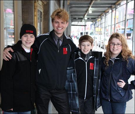 Joseph Harrington, Shawn Gough, Tade Biesinger and Briana Fragomeni