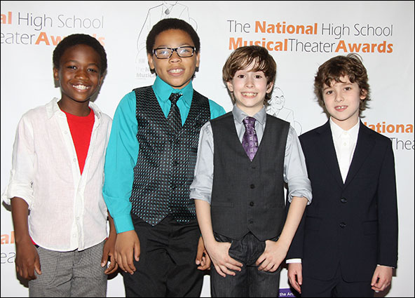Cole Bullock, Marquise Neal, Sebastian Hedges Thomas and Jonah Halperin from Kinky Boots