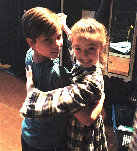 Former Mary Poppins stars Lucas Schultz and Alexa Niziak reunite in A Christmas Story. Here they are giving me a little backstage mad hot ballroom action.