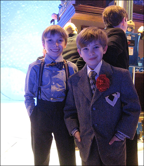 """Tap dancing maven, Luke Spring and the dashing and hilarious Noah Baird. The future of Broadway. I mean couldn't you just dip them in duck sauce and sing """"Fa Ra Ra Ra Ra?"""""""