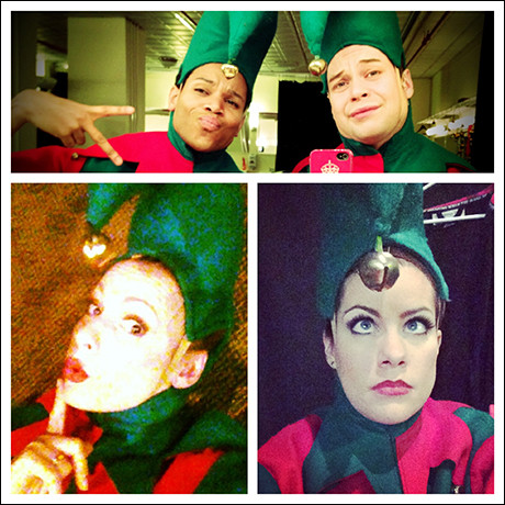 #elfie is the new #selfie. Get into it. Thay Floyd, Keven Quillon, Lizzie Klemperer and I letting you have it.
