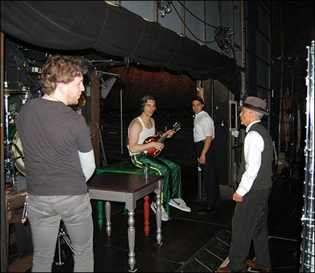 Adam, Lucas, Carlos & DP hanging backstage- places please...