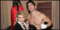 "Photo Archive: ""Can We Spar?"" Joan Rivers Visits Rocky"