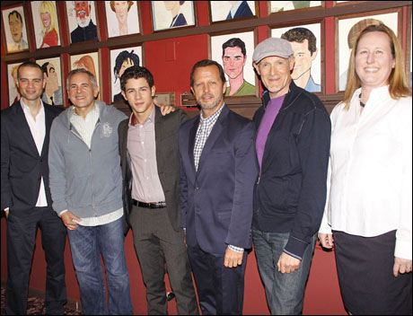 Jordan Roth, Craig Zadan, Nick Jonas, Rob Ashford, Neil Meron and Beth Williams