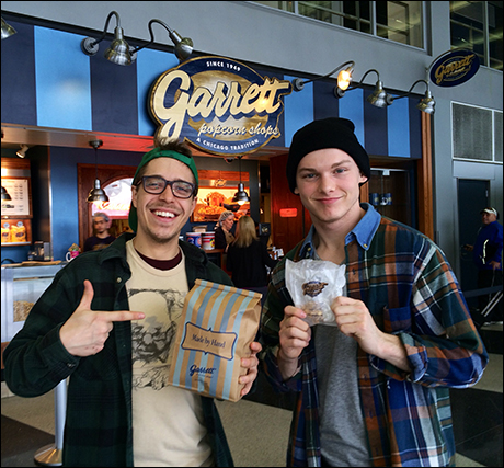 Just before boarding I had to grab some of Chicago's finest, Garrett's popcorn. That brings us to the end. Shout out to Brandon Hudson, who helped me edit these pictures.  Come check us out on the road!