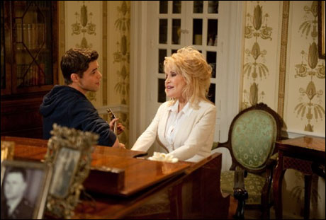 Jeremy Jordan and Dolly Parton
