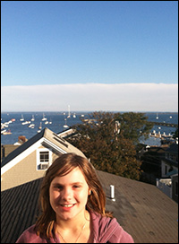 Juli (age 12!) enjoying the Grand view from the Grand View Inn