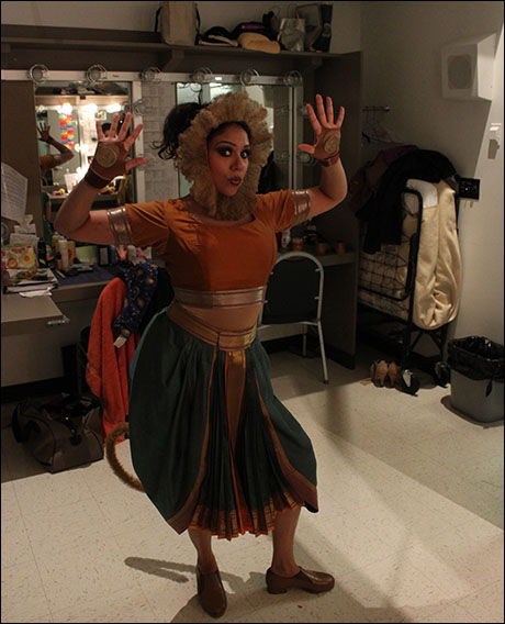 Time for Act II! Alka shows off her monkey taps.