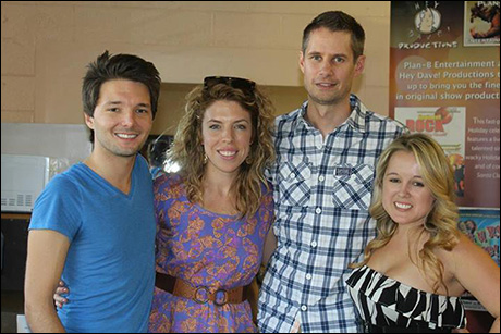 Kristin Hanggi, original Bare director and Jon Hartmere, Bare author, stopped by rehearsal to check us out. Here they are with our producers Topher Rhys and Jamie Lee Barnard.