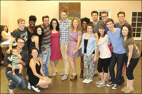 Our full cast with Kristin Hanggi, Jon Hartmere and James Snyder!!  More to come!