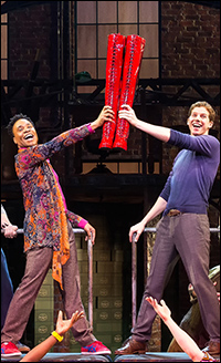 Billy Porter and Stark Sands in <i>Kinky Boots</i>.