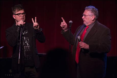 Stephen Oremus and Harvey Fierstein