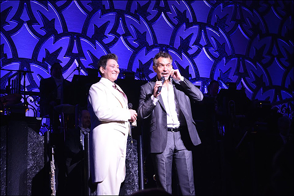 k.d. lang and Brian Stokes Mitchell