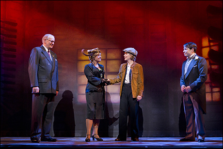 Terry Beaver, Estelle Parsons, Kelli O'Hara and Matthew Broderick in  Nice Work If You Can Get It