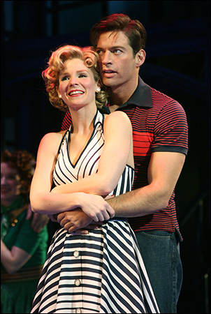 Harry Connick Jr and Kelli O'Hara in The Pajama Game