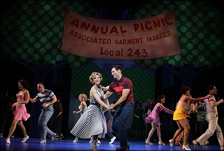 Kelli O'Hara and Harry Connick Jr. in The Pajama Game