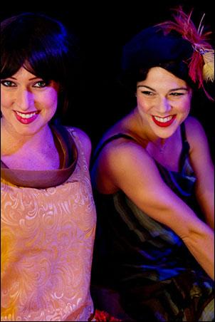 Two adorable flappers... Jena VanElslander and Lauren Linville