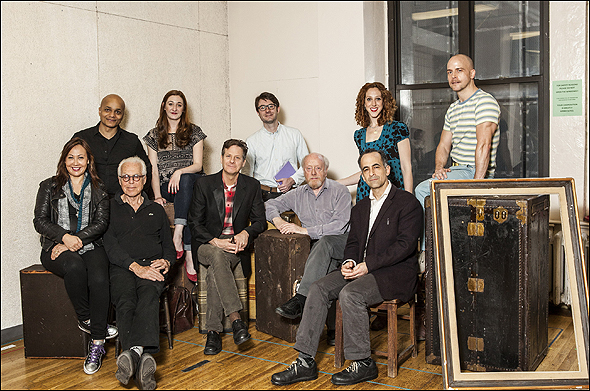 Front: Kate Rigg, John Guare, Martin Moran, Peter Maloney, David Pittu. Back: Omar Sangare, Jacquelyn Landgraf, Timothy Splain, Alison Cimmet and Jeffrey Kuhn