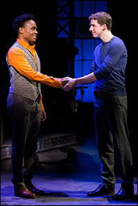 Billy Porter and Stark Sands star in <i>Kinky Boots</i>, which earned 13 Tony nominations.