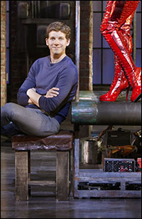 Stark Sands in <i>Kinky Boots</i> in its Chicago tryout.