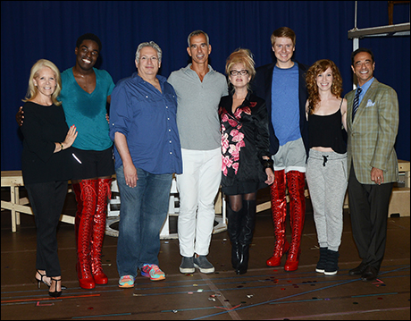 Daryl Roth, Kyle Taylor Parker, Harvey Fierstein, Jerry Mitchell, Cyndi Lauper, Steven Booth, Lindsay Nicole Chambers and Hal Luftig