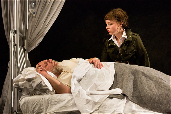 Simon Russell Beale and Olivia Vinall