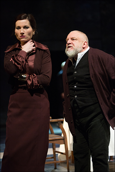 Kate Fleetwood and Simon Russell Beale