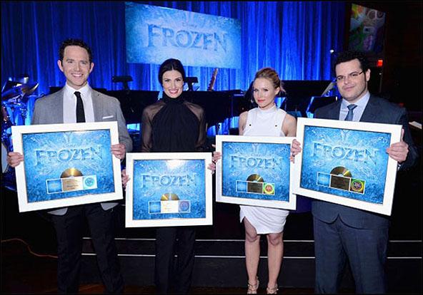 Santino Fontana, Idina Menzel, Kristen Bell and Josh Gad