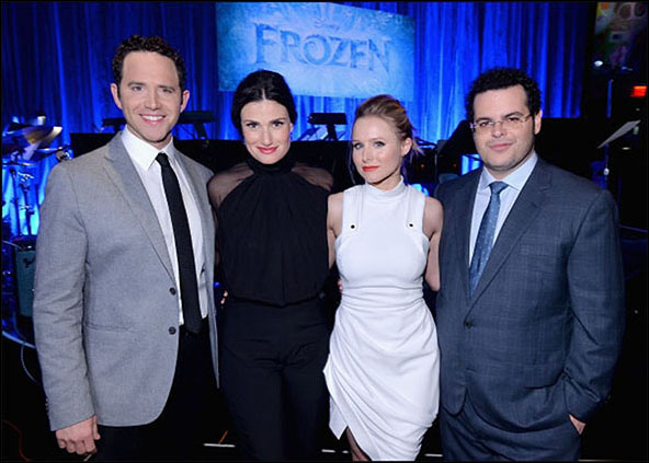 Santino Fontana, Idina Menzel, Kristen Bell and Josh Gad, A Celebration of the Music of Frozen, 2014