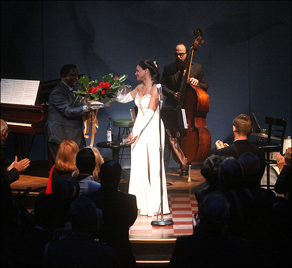 Shelton Becton, Audra McDonald and George Farmer
