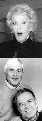 Elaine Strich (top), John Kander (left), and Fred Ebb