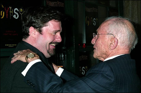 Nathan Lane with Arthur Laurents on opening night of Gypsy, 2003