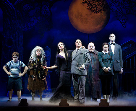 Nathan Lane and cast in The Addams Family