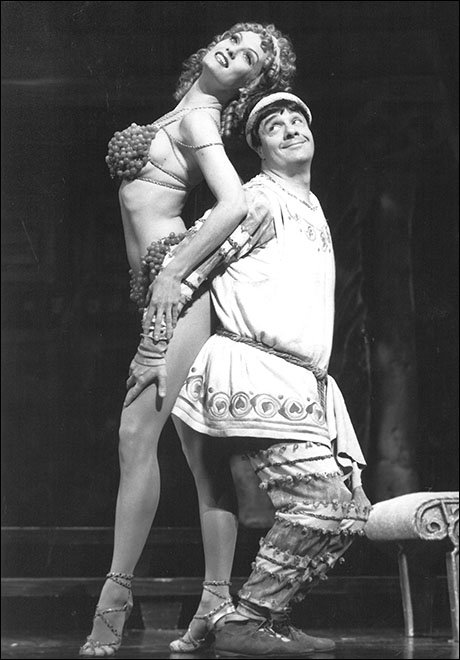 Leigh Zimmerman and Nathan Lane in A Funny Thing Happened on the Way to the Forum