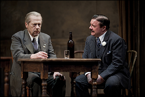 Stephen Ouimette and Nathan Lane in The Iceman Cometh at Chicago's Goodman Theatre