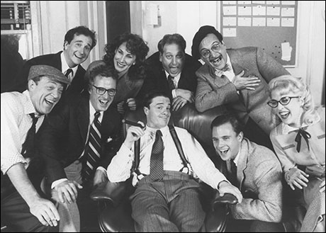 Nathan Lane and cast in  Laughter on the 23rd Floor
