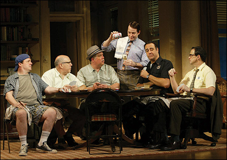 Nathan Lane and cast in The Odd Couple