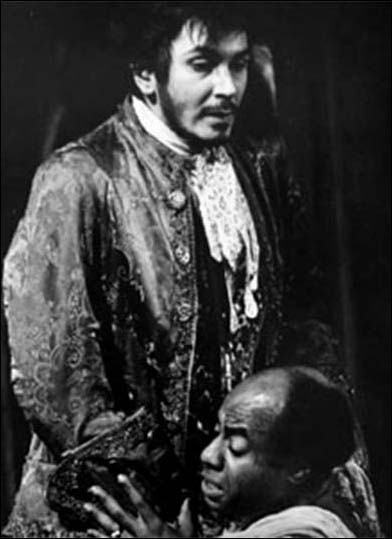 Frank Langella and Roscoe Lee Browne in the 1964 American Place Theatre production The Old Glory.