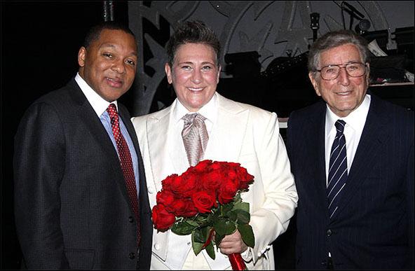 Wynton Marsalis,  k.d. lang and Tony Bennett