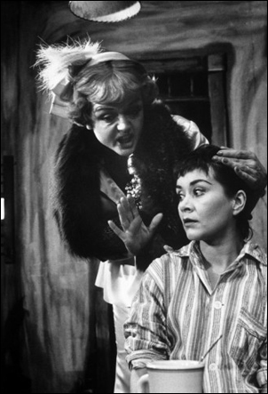 Angela Lansbury and Joan Plowright in A Taste of Honey, 1960