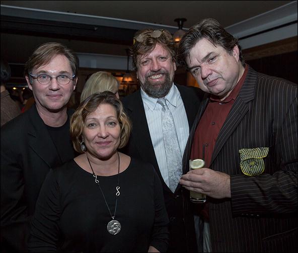 Richard Thomas, Georgiana Bischoff, Oskar Eustis and Oliver Platt