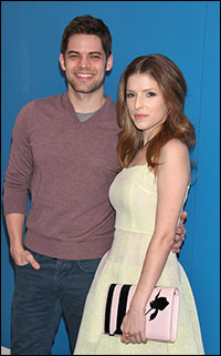Jeremy Jordan and Anna Kendrick arrive at the screening
