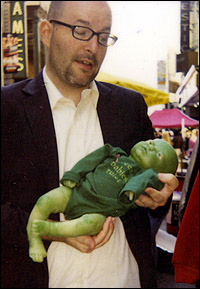 Tom Nondorf with a <I>Wicked</I> baby prop
