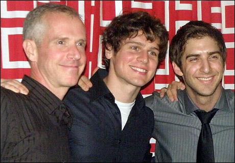 Tom Andersen, Jonathan Groff and Cody Green