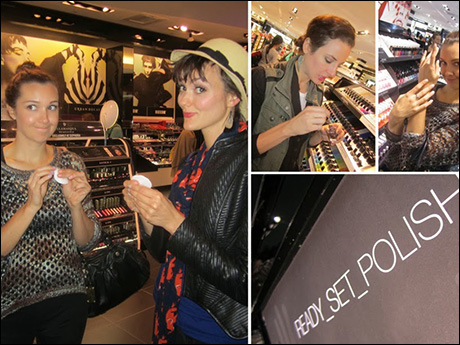 Join Sarrah Strimel, Lara and I at the Sephora Nail Bar to mend that shabby manicure! We're committed to trying all the neutral color polishes by the end of the year.