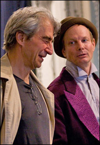 Sam Waterston and Bill Irwin in rehearsal